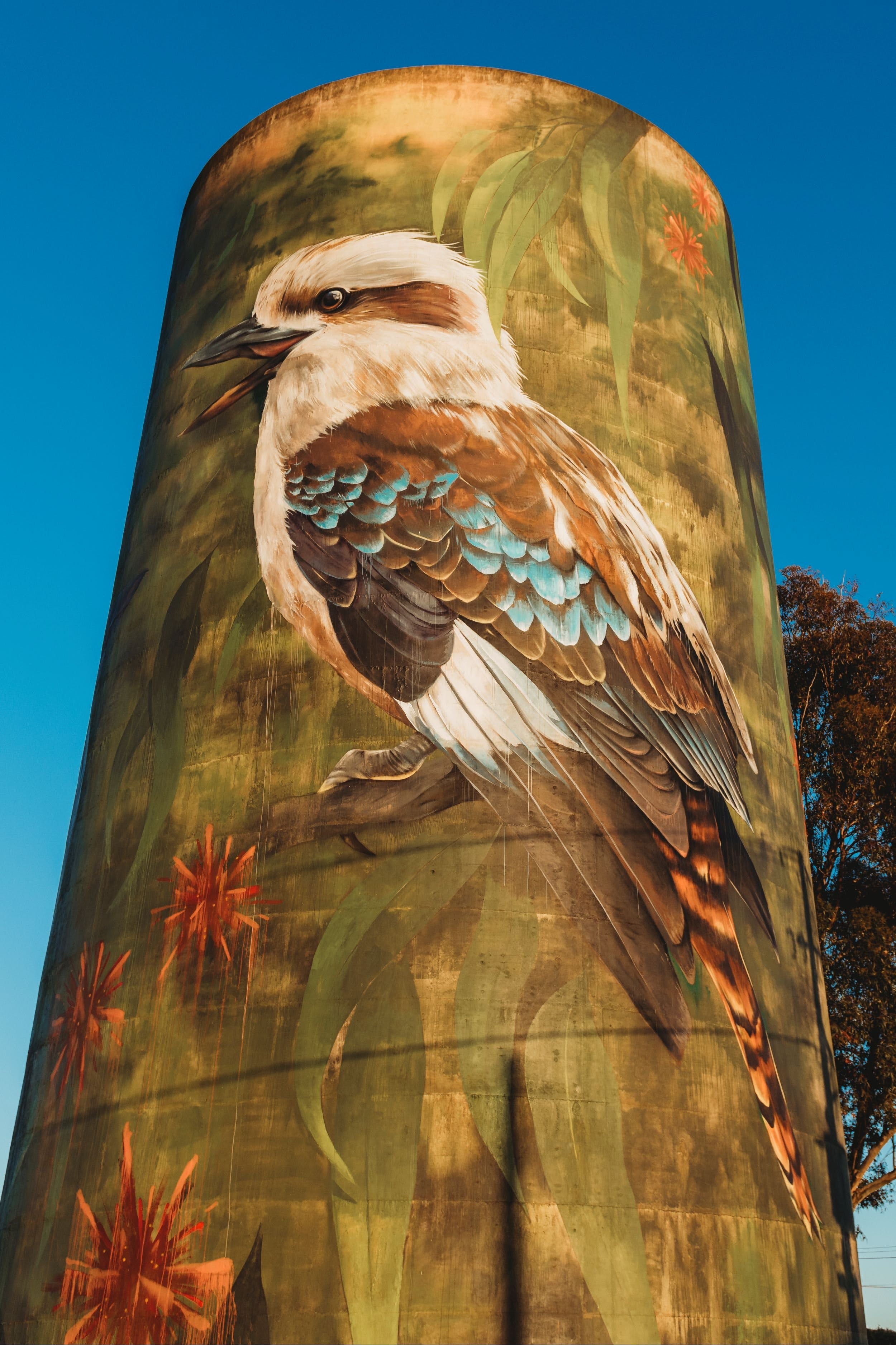 Deniliquin Water Tower Mural - Stayed