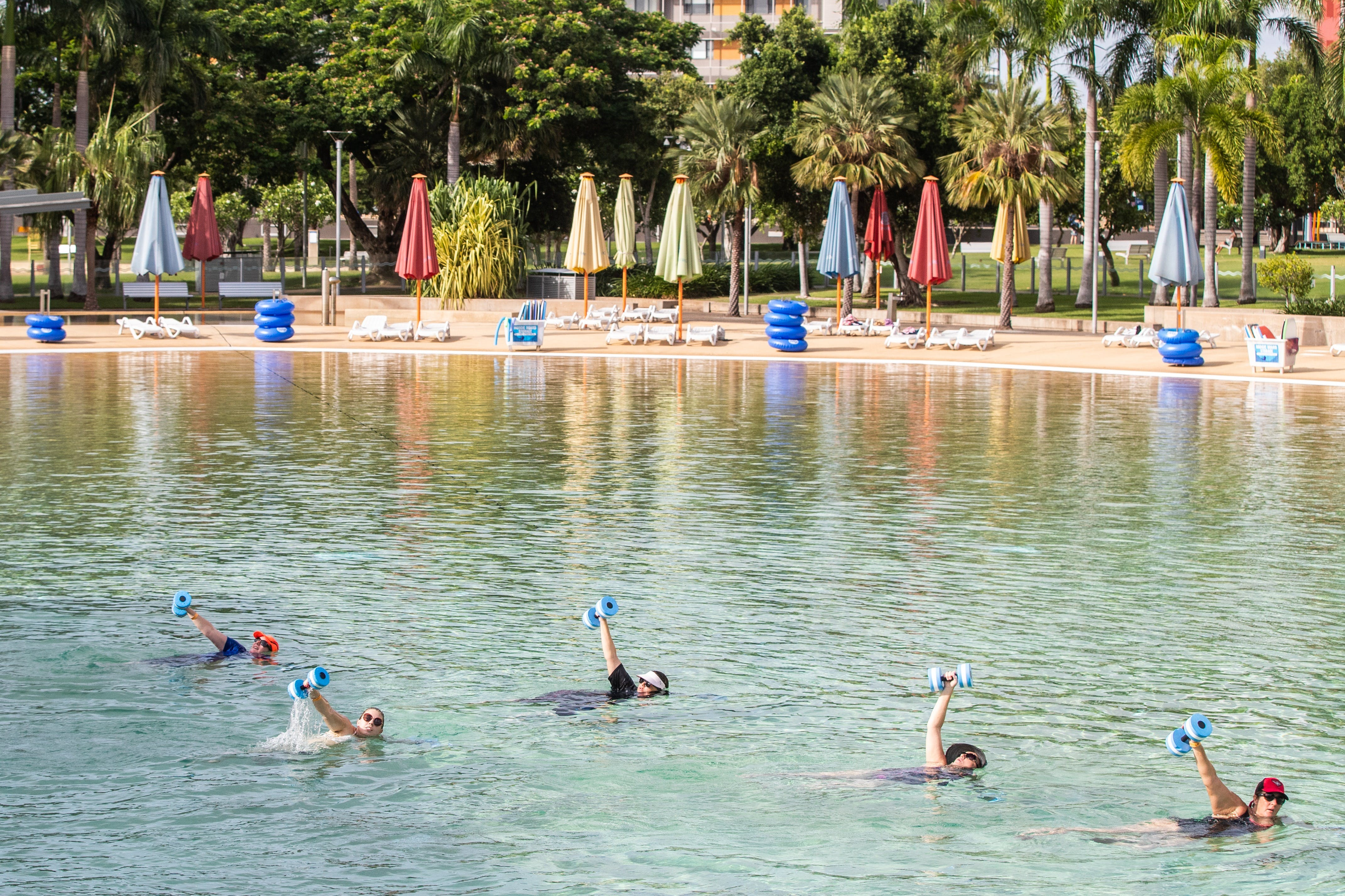 Aqua fitness in the Wave Lagoon - Stayed