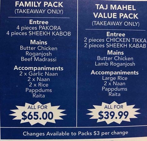 Taj Mahal Indian Restaurant - Stayed
